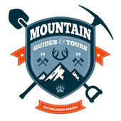 Mountain emblem — Stock Vector