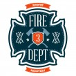 Fire department emblem — Imagen vectorial