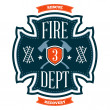Stock Vector: Fire department emblem