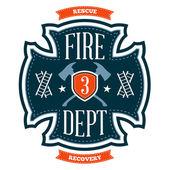 Emblème de pompiers — Vecteur