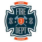 Fire department emblem — Vector de stock