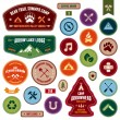 Scout badges - Stock Vector