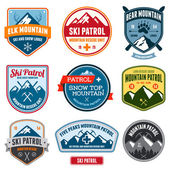 Ski badges — Stock Vector