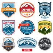 Ski badges — Stock Vector