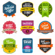 Vector de stock : Sales labels