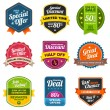 Sales labels — Stock Vector