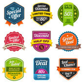 Set of Sales labels — Stock Vector