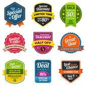 Sprzedaż etykiet — Wektor stockowy