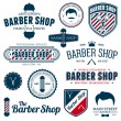 Barber shop graphics - Stok Vektör