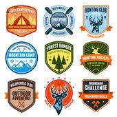 Outdoor emblems — Stock Vector