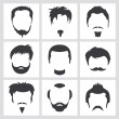 Vector de stock : Male hair graphics