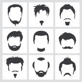 Graphiques de cheveux chez l'homme — Vecteur