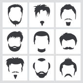 Male hair graphics — Vecteur
