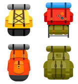 Backpacks — Vettoriale Stock