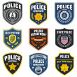 Vector de stock : Police patches