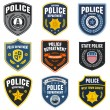 Stock Vector: Police patches