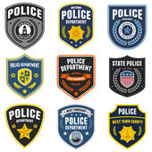 Police patches — Stock Vector