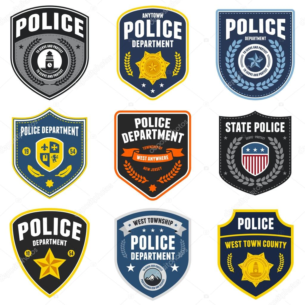 Set of police law enforcement Police Star Logo Vector