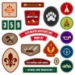 Stock Vector: Scouting badges