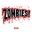Zombie Text — Stock Vector
