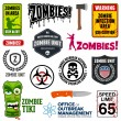 Zombie Signs — Stock Vector