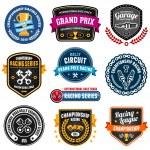 Racing emblems — Stock Vector
