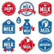 Milk labels — Vector de stock  #28089711