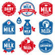 Milk labels — Stockvector