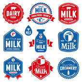 Milk labels — Vetorial Stock