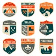 Stock Vector: Retro camp badges