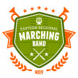 Stock Vector: Marching band emblem