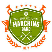 Marching band emblem — Stock Vector