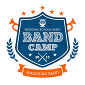 Band camp emblem — Stock Vector