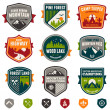 Vintage travel and camp badges — Stock Vector #28862189