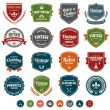 Vintage badges — Stock Vector