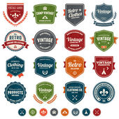 Badges vintage — Vecteur