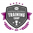 Football training camp emblem — Stock Vector #29609601