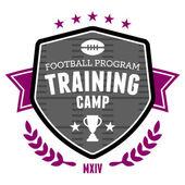 Football training camp emblem — Stock Vector