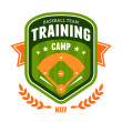 Baseball training camp emblem — Stock Vector #40322675