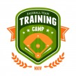 Stock Vector: Baseball training camp emblem