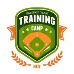 Baseball training camp emblem — Stock Vector