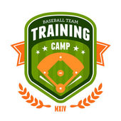 Baseball training camp emblem — Stock Vector