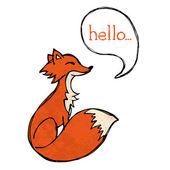 Fox drawing — Stock Vector