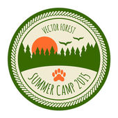 Vintage summer camp sticker — Stock Vector