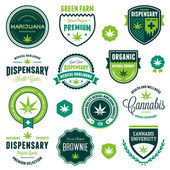 Marijuana product labels — Stock Vector