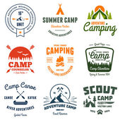 Vintage camp graphics — Stock Vector