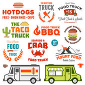 Food truck graphics — Stock Vector