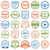 Badge and label collection — Stock Vector