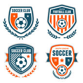 Soccer crests — Stock Vector