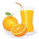 Orange fruit juice — Stock Vector
